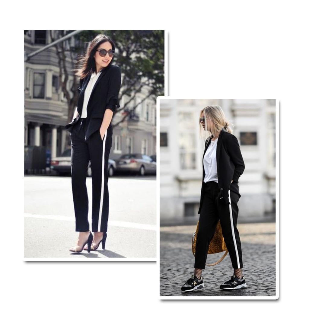 Blazer e calça sportwear