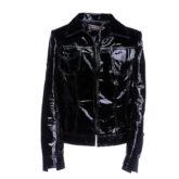 jaqueta couro verniz