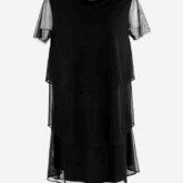 Vestido Tule Babados