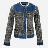 Jaqueta Jeans Tweed